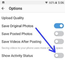 How to disable Instagram last active status in android device