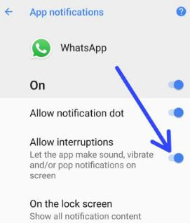 How to disable heads up notifications on android Oreo