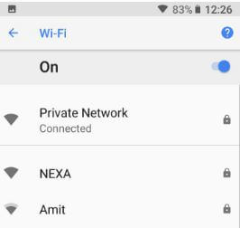 How to show wifi network speed in android 8 1 Oreo