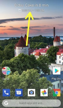 How to use Pixel 2 at a glance widget
