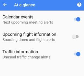 How to use Pixel at a glance widget in Oreo