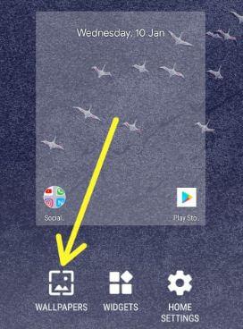 Pixel 2 home screen settings for set wallpaper