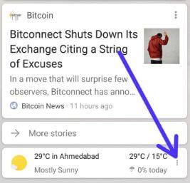Remove weather widget from Google Pixel 2 home screen