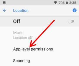 App level permission in Oreo
