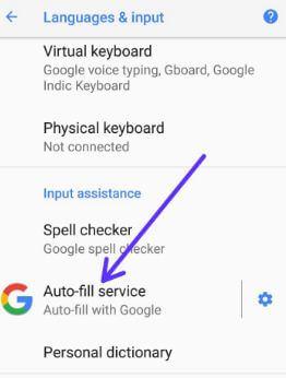 Auto-fill service in android Oreo