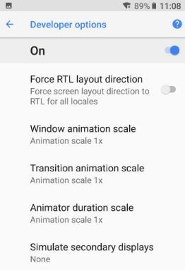 Change animation scale in android Oreo