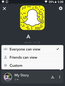 Change who can see my story on snapchat android phone