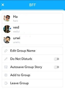 How to make a Group on Snapchat in android