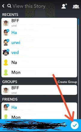 View private Snapchat story in android