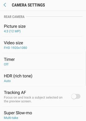 Best camera settings for galaxy S9 and galaxy S9 plus