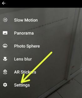 Google Pixel camera settings