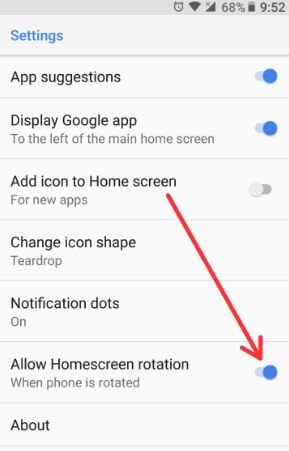 How to rotate home screen on galaxy S9 and galaxy S9 Plus