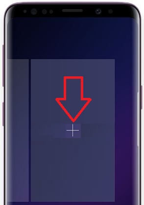 Add page on home screen Galaxy S9 and Galaxy S9 Plus