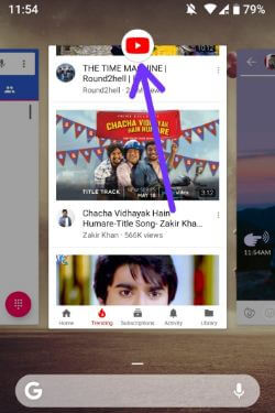 Enable split screen mode in android P