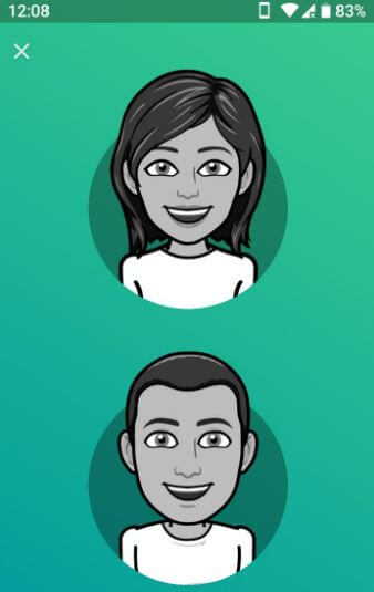 How to change Bitmoji style male to female
