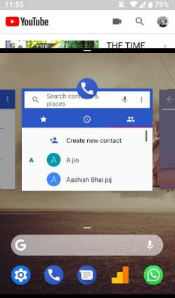 Use split screen mode on android P 9.0