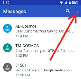 Android messages app in your device