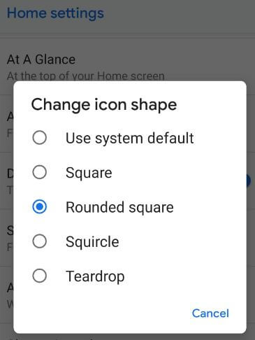 How to change icon shape in android P 9 0: Android Pie