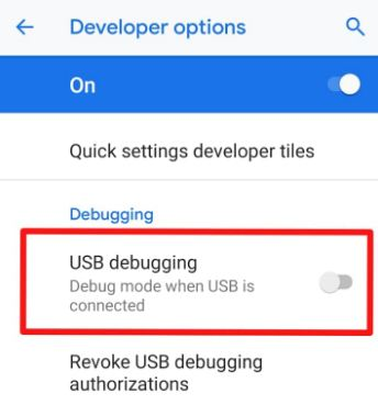How to enable USB debugging in Pixel 3 XL