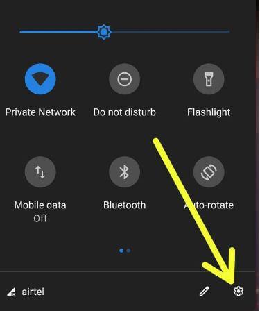 Open settings in Google Pixel 3 XL device