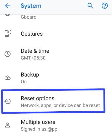 Reset all network settings on Pixel 3 XL