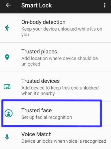 Set up facial recognition in Pixel 2 XL