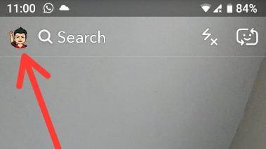 Snapchat profile symbol in smartphone