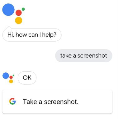 Use Google Assistant to capture screenshot in Pixel 3 XL