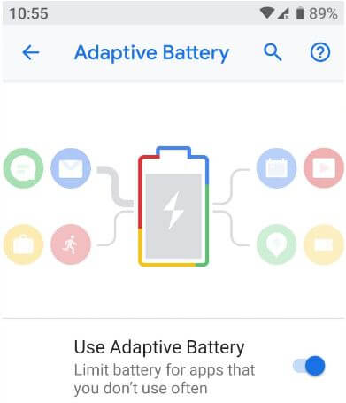 Adaptive Battery android Pie 9.0
