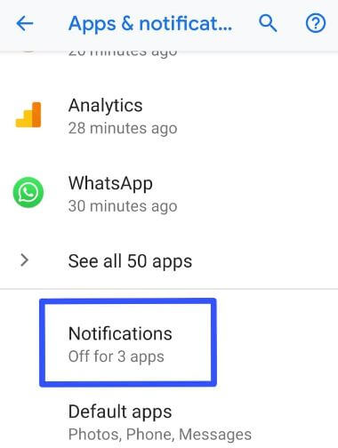 how to turn off app notifications android