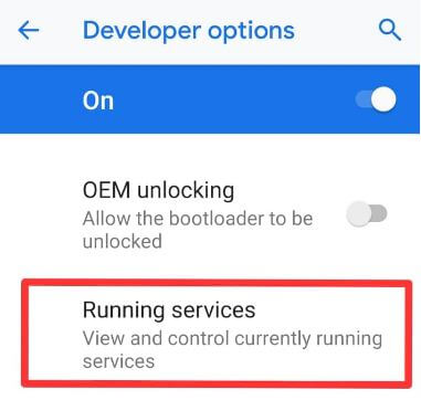 Android P running services
