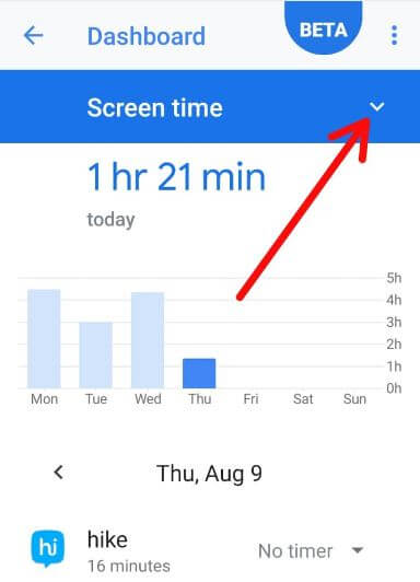 See time spent on apps android 9 Pie