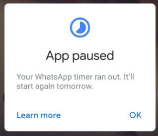 Set time limit on apps android Pie 9