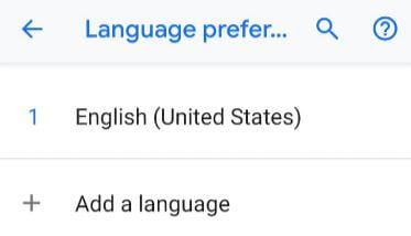 Change default language on Pixel 3 XL Pie device