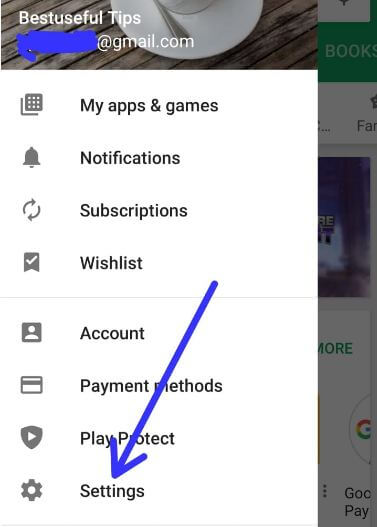 Google Play store settings android 9 Pie