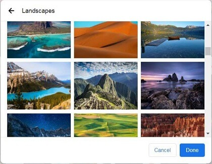how to change google chrome background image on pc