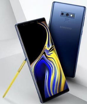 How to send picture from galaxy Note 9 in text message
