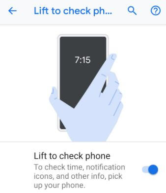 Turn off Ambient display on Pixel 3 Pie 9