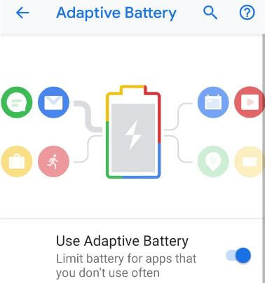 Adaptive battery Pixel 3