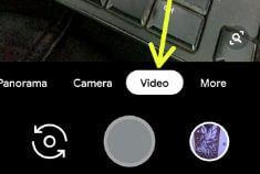 Capture video on Pixel 3 Pie