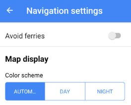 Enable night mode on Google Map android