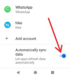 How to disable Auto sync on Android 9 Pie devices