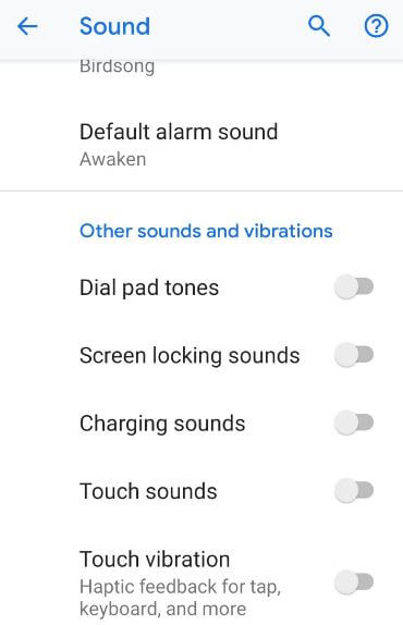 How to turn off sound & vibration on Pixel 3 Pie