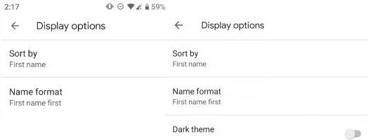 How to turn on dark theme in phone app Android
