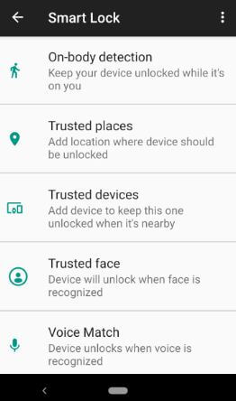How to use smart lock on Android 9 Pie