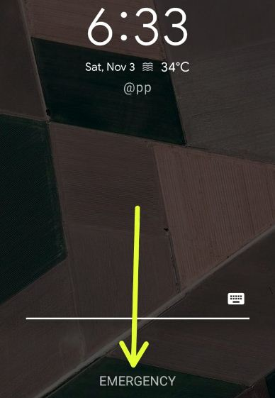 Emergency contact info on Pixel 3's lock screen