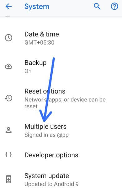Multiple users account on Pixel 3