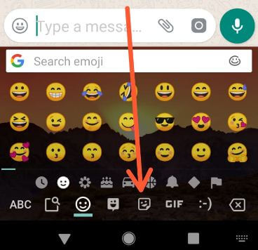 WhatsApp stickers icon on android